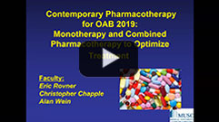 035IC - Contemporary Pharmacotherapy for OAB 2019: Monotherapy and Combined Pharmacotherapy to Optimize Treatment